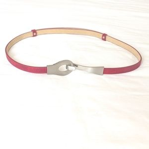 Chico's Accessories - CHICO'S Red leather and silver hook Belt Large